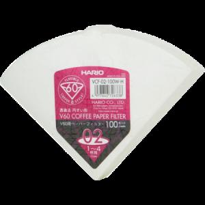 Papirfilter for Hario håndbrygger V60 02 100 stk