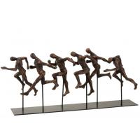 """Athletes running"" pyntegjenstand bronze/svart"