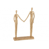 "Skulptur ""Couple hand in hand"", gull"