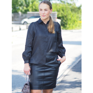 Francie Mini Leather Skirt