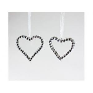 Hjerte for heng m/bling krystall
