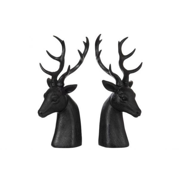 Sett med to reinsdyr-bokstøtter