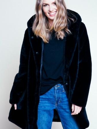 Chloe Hood Fake Fur Jacket