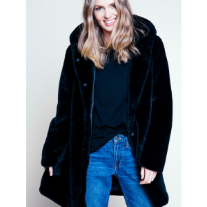 Chloe Hood Fake Fur Jacket