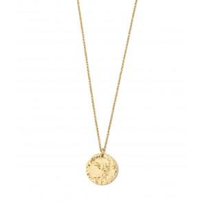 Devious Disc Short Necklace Gold