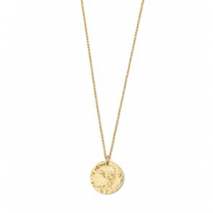 Devious Disc Short Necklace Gold