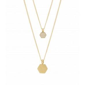 Rivet Spark Double Necklace Gold