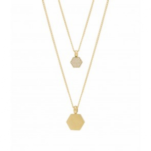 Rivet Spark Double Necklace Gold