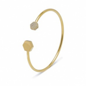 Rivet Spark Bangle Gold