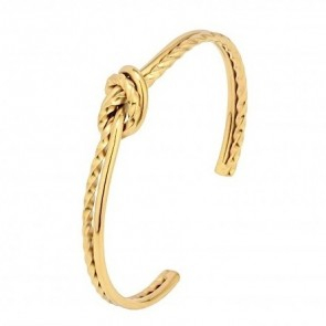 Knot Double Bangle Gold