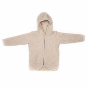 HUTTELIHUT - JACKIE WOOL FLEECE JACKET CAMEL