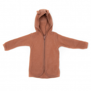 HUTTELIHUT - JACKIE WOOL FLEECE JACKET ROSEWOOD