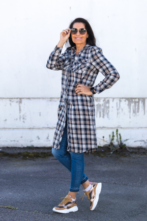 Uni Check Shirt Dress