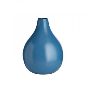 Pure Culture Vase - Bred Blå Matt