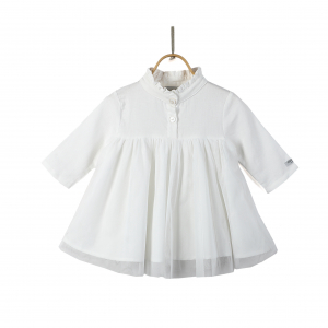DONSJE - FIEKE DRESS SWAN WHITE