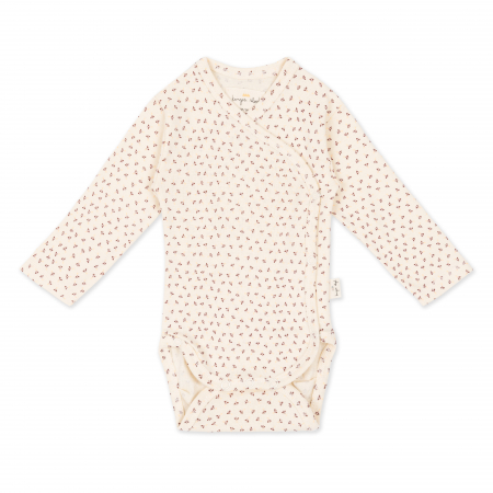 KONGES SLØJD - BODY NEW BORN TINY CLOVER BEIGE