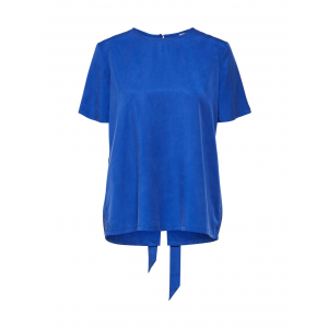 Tonia back tie top - Surf the web / Blue
