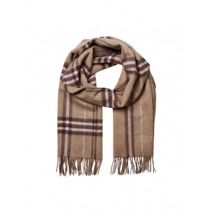 Time Wool Scarf Check