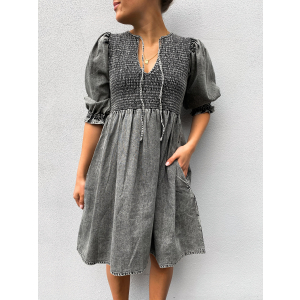 Benita Dress - Ice Grey
