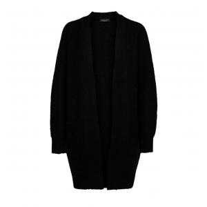 Lulu Knit Long Cardigan - Black