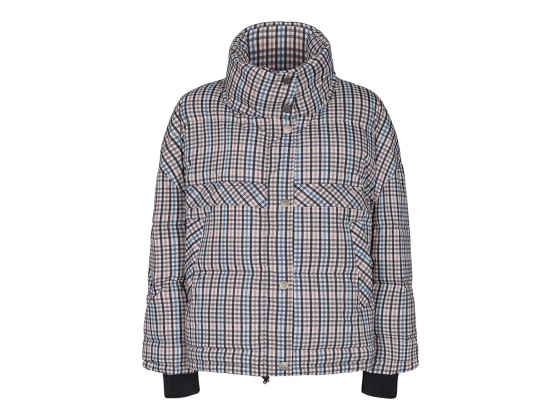 Cocouture Crop Check Down Jacket