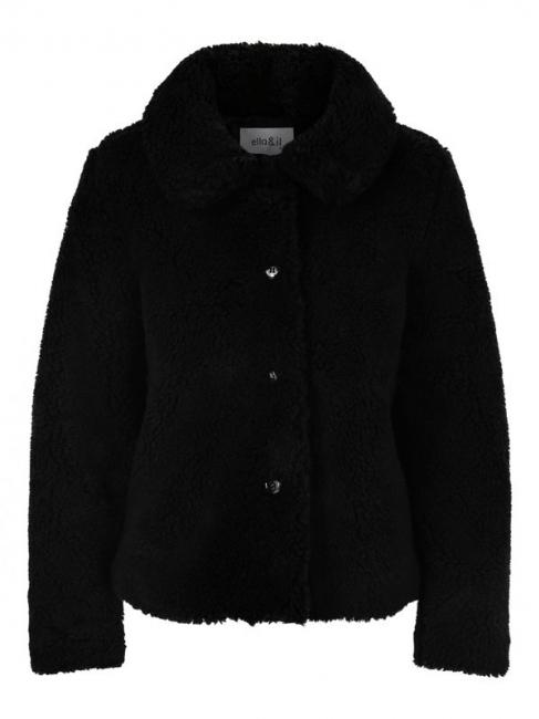 Anna Teddy Jacket Black