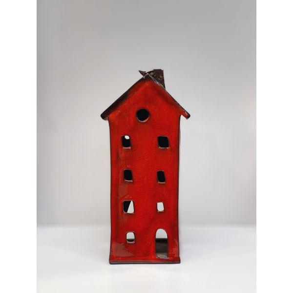 Keramikkhus - Rød Medium
