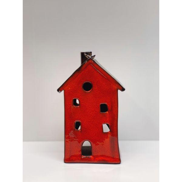 Keramikkhus - Rød Mini