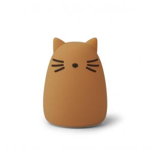 LIEWOOD - WINSTON NATTLAMPE CAT MUSTARD