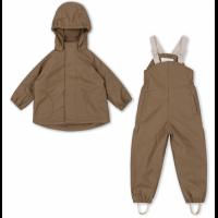 Palm Rainwear Solid Fleece- WALNUT