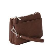 Anna dk brown Zipper Pocket 683211