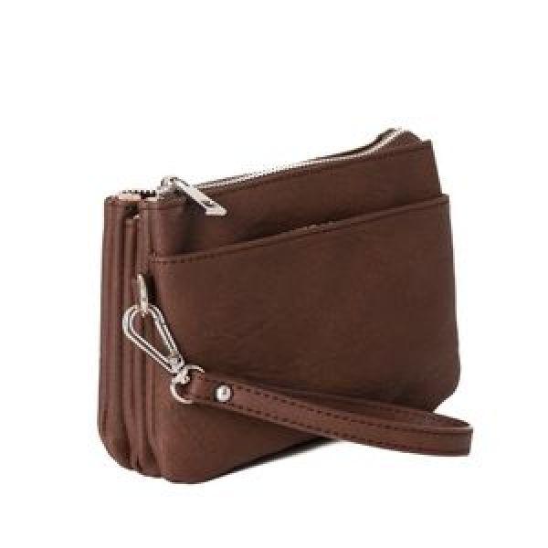 Anna dk brown silver Zipper Pocket 683211