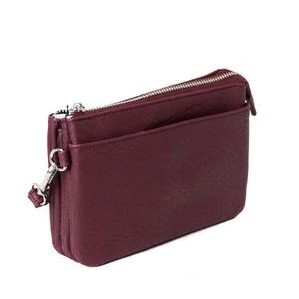 Anna plum Zipper Pocket 683290