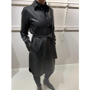 Vinga Leather Shirt Dress