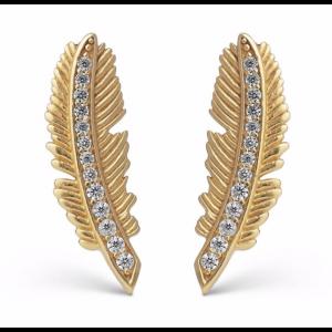 Earring, Fira - gold plated