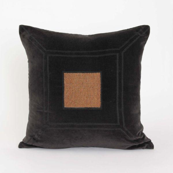 Putetrekk jaquard mønster sort
