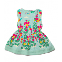 Paradise Bird Gathered Dress