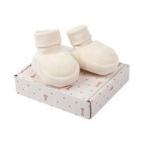 Baby velour boots (tøfler) - Hvit