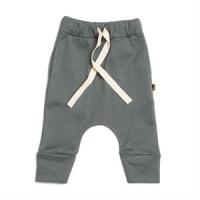 Organic drawstring pants - Petrol