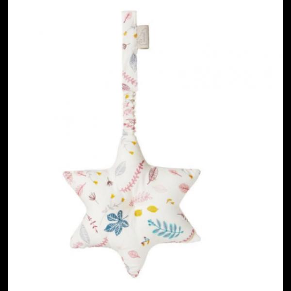 Playgym star med mønsteret pressed leaves rosa, CamCam