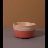 Skåler 3 pk - Cink - farge: Fog/Rye/Brick