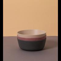 Skåler 3 pk - Cink - farge: Fog/Beet/Ocean