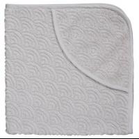 Håndkle med hette, grått