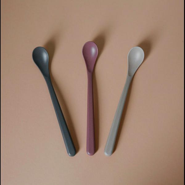 Feeding spoon Bambus 3 pk - Cink - Fog/Beet/Ocean
