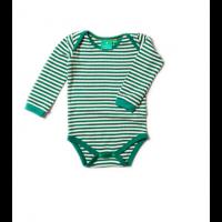 Body grønn/hvite striper - Little Green Radicals - Fairtraide