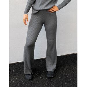Gaia Knit Pants - Dark Grey Melange