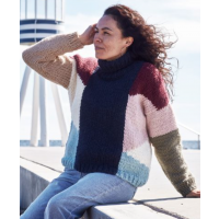 Sweater med grafisk mønster