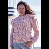 Sweater med fletter og puffermer