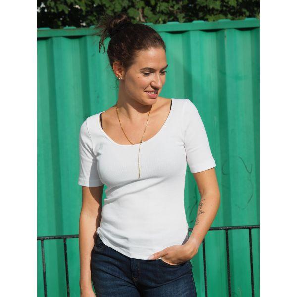 T-shirt Ribbed - Sara Biderman
