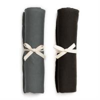 Organic Swaddle Blanket Set - Petrol & Slate